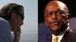 Jamie Brazil and Herman Cain