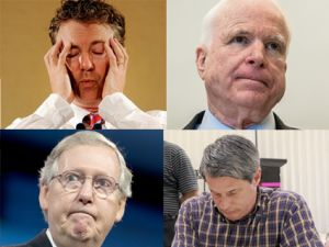Sad GOP senators