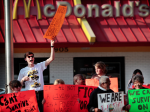 Fast-Food strikers at McDonald's