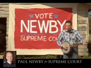 A screenshot of Paul Newbie TV ad