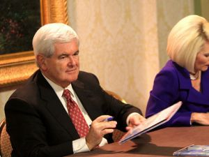 Newt Gingrich at a book signing in Washington DC last October.