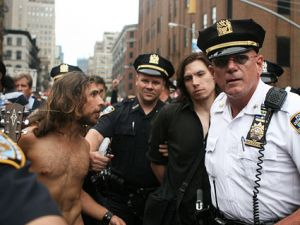 NYPD at Occupy Wall Street protest