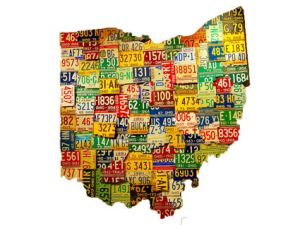 ohio license plate map