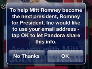 Romney on Pandora
