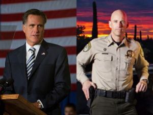 Mitt Romney and Pual Babeu