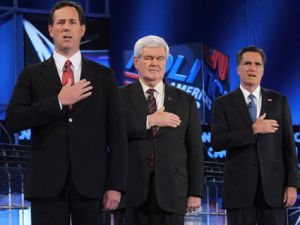 rick santorum mitt romney newt gingrich