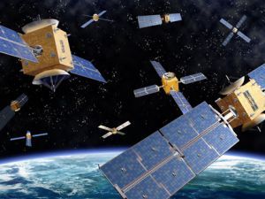 satellites in space