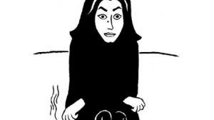 Marjane Satrapi self portrait