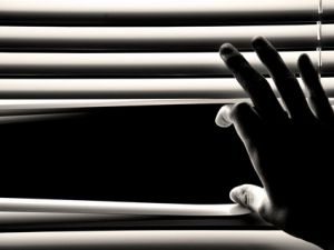 hand opening window blinds 