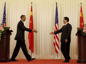 President Barack Obama and Chinese President Hu Jintao
