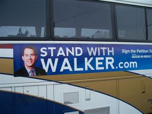 A bus for AFP&#039;s 2011 &quot;Stand With Walker&quot; bus tour