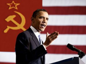 barack obama flag soviet union communist