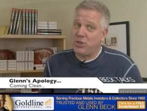 Glenn Beck shills for Goldline