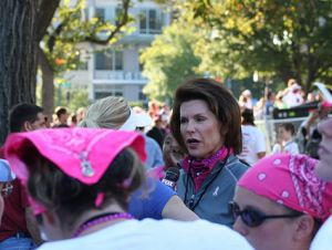 Nancy Brinker, Komen CEO, at a 2008 event.