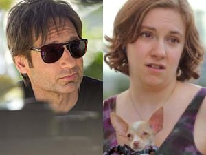 david duchovny californication showtime lena dunham girls hbo