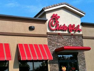 a picture of a chik-fil-a restaurant
