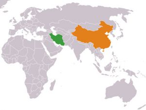 china iran map