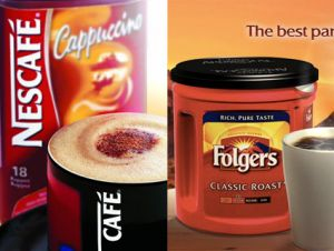 Folgers and Nescafe