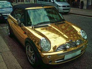gold-plated car