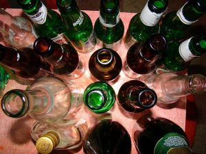 Empty bottles