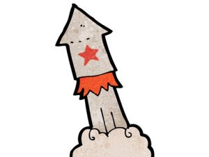 missile cartoon red star