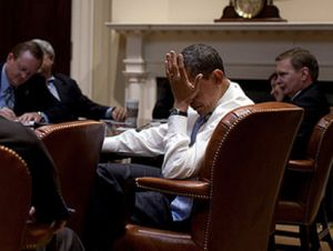 barack obama facepalm