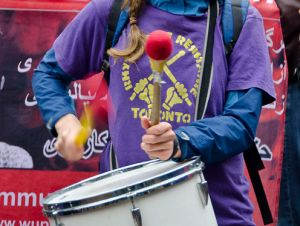 A drummer at Occupy Wall Street