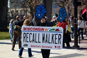 Scott Walker protester