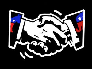 republican democrat handshake