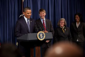Barack Obama and Richard Cordray