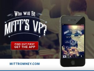 Romney VP app