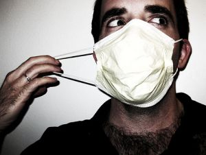 guy with surgical mask