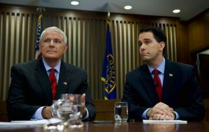 Milwaukee Mayor Tom Barrett and Wisconsin Gov. Scott Walker