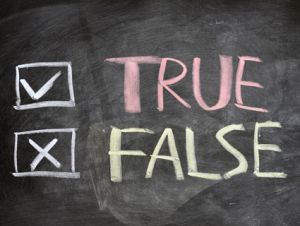 true or false checklist