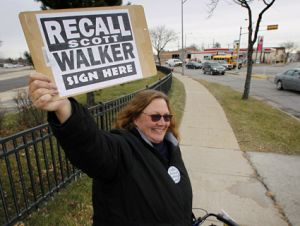 Walker recall sign