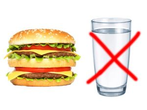 burger and no clean water