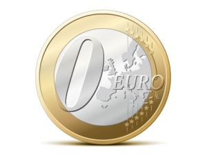 zero euro coin
