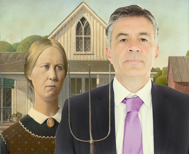 American Gothic with businessman