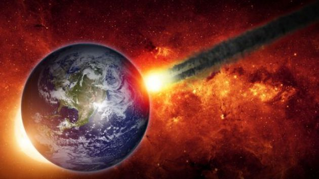 an asteroid crashes into Earth