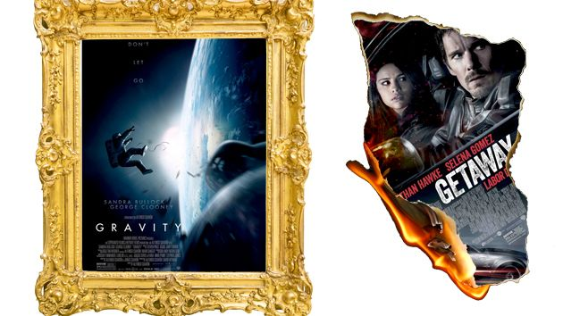 Gravity and Getaway movie posters