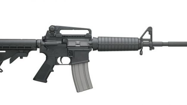 The Bushmaster XM-15 assault rifle