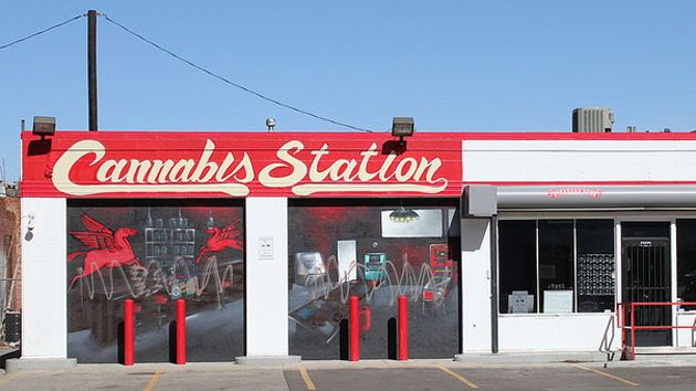 Cannabis station, a medical marijuana dispensary, is located at the site of a fo