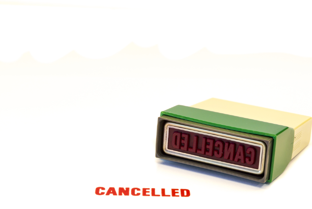 """cancelled"" stamp"