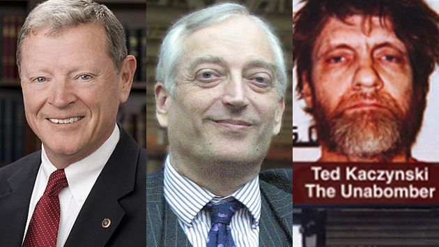 James Inhofe; Lord Monckton; Heartland unabomber billboard