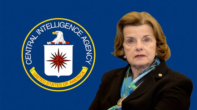 Dianne Feinstein and CIA flag
