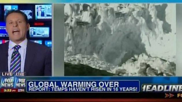 Image of Fox News making hay of the global warming slowdown.