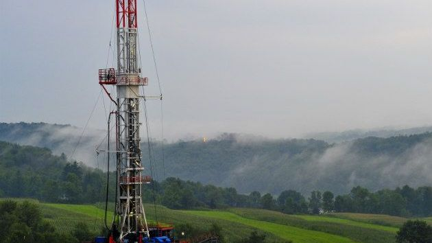 A fracking site in Pennsylvania