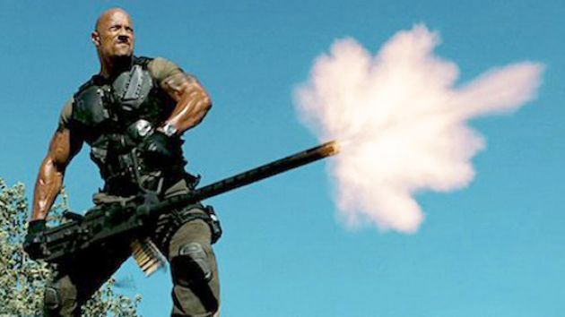 G.I. Joe Retaliation Dwayne The Rock Johnson with big gun