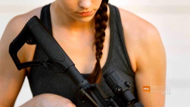 """Screen shot: NRA video """"Beauty Shots"""""""