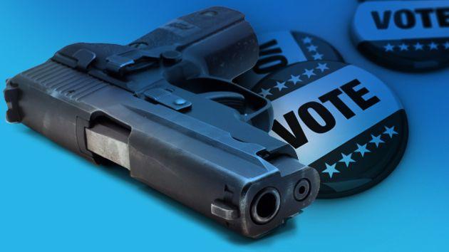 gun and vote button